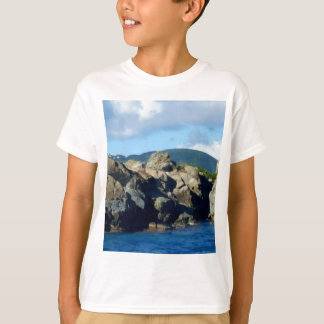 Caribbean Rocky Barrier St. Thomas Landscape T-Shirt
