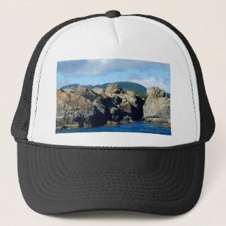 Caribbean Rocky Barrier St. Thomas Landscape Trucker Hat