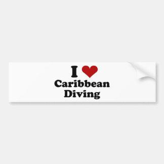 Caribbean Scuba Diving Bumper Stickers