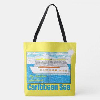"""""""Caribbean Sea"""" Beachbag Tote Bag"""