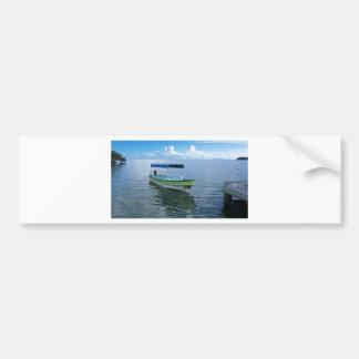 caribbean sea car bumper sticker