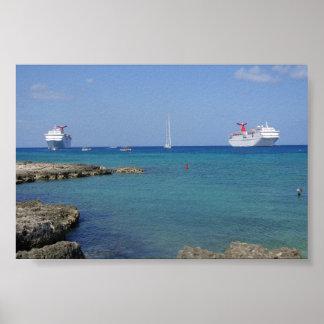 Caribbean Sea Cruise Poster
