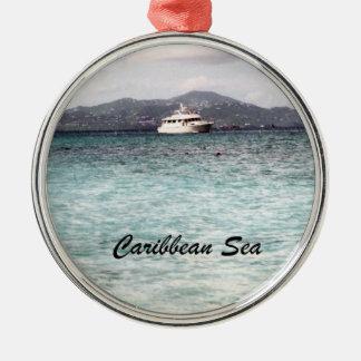 Caribbean Sea Metal Ornament