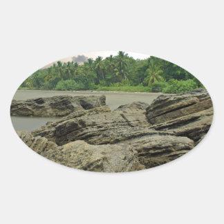 caribbean sea oval sticker