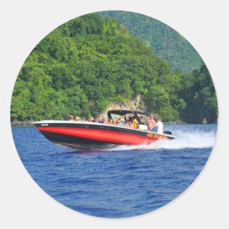 Caribbean sea round sticker