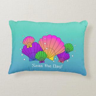 Caribbean Sea Shells with Bubbles Decorative Pillow