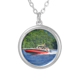 Caribbean sea silver plated necklace