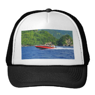 Caribbean sea trucker hat
