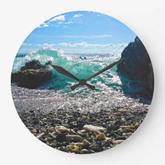 Caribbean Splash Large Clock