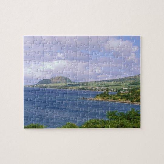 Caribbean, St. Kitts, Roseau. Coast. Jigsaw Puzzle