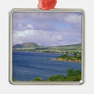 Caribbean, St. Kitts, Roseau. Coast. Metal Ornament