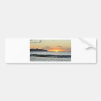 Caribbean sunset bumper sticker