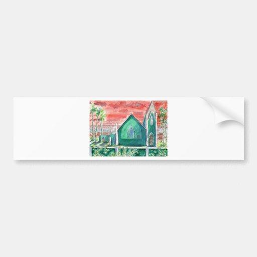 Caribbean Sunset ENHANCED Bumper Stickers