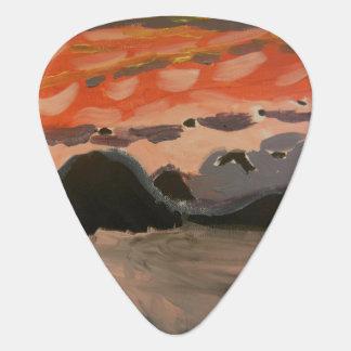 Caribbean Sunset Guitar Pick