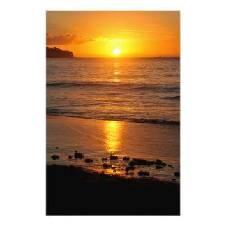 Caribbean sunset photo print