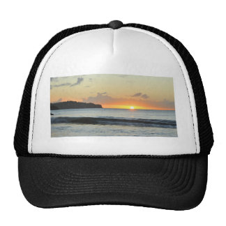 Caribbean sunset trucker hat