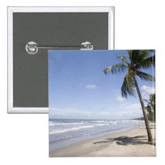 Caribbean - Trinidad - Manzanilla Beach on 2 2 Inch Square Button