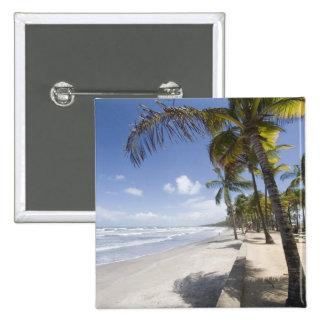 Caribbean - Trinidad - Manzanilla Beach on 2 Inch Square Button