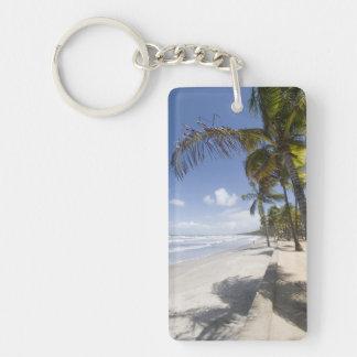 Caribbean - Trinidad - Manzanilla Beach on Double-Sided Rectangular Acrylic Keychain