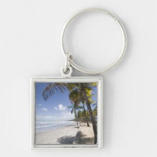 Caribbean - Trinidad - Manzanilla Beach on Silver-Colored Square Keychain