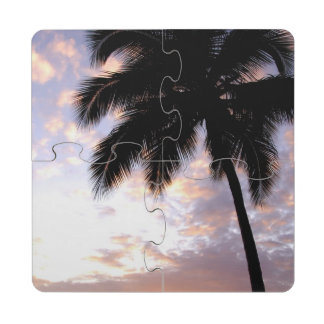 Caribbean, U.S. Virgin Islands, St.Thomas, 3 Drink Coaster Puzzle