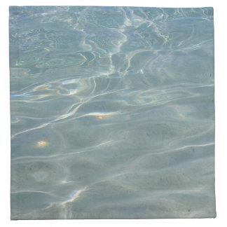 Caribbean Water Abstract Blue Nature Napkin