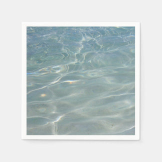 Caribbean Water Abstract Blue Nature Paper Napkin
