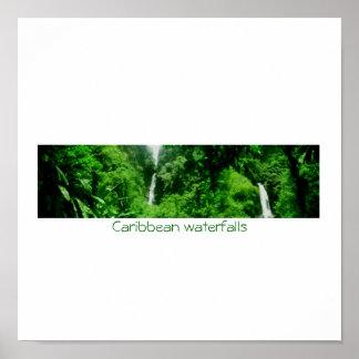 Caribbean waterfalls print