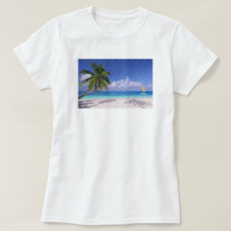 Caribea Leaning Beach Palm T-Shirt