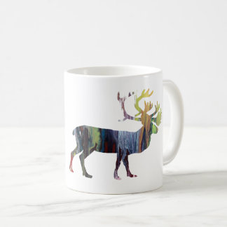 Caribou art coffee mug