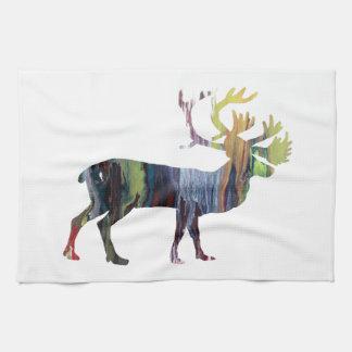 Caribou art kitchen towel