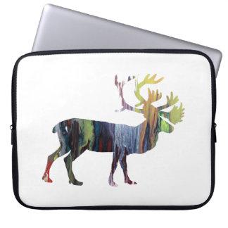 Caribou art laptop sleeve