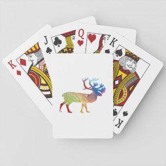 Caribou art playing cards