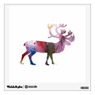 Caribou art wall decal