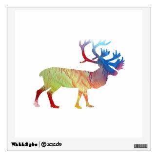 Caribou art wall sticker