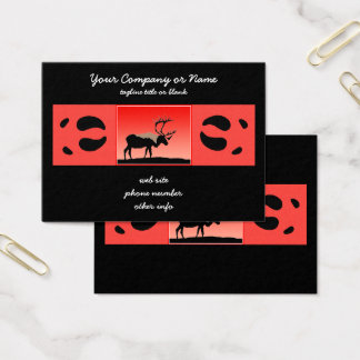 Caribou at Sunset Business Card