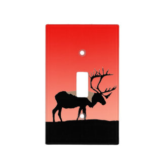 Caribou at Sunset Light Switch Cover
