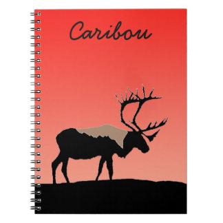 Caribou at Sunset  - Original Wildlife Art Notebook