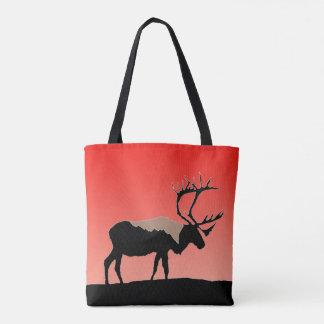 Caribou at Sunset Tote Bag