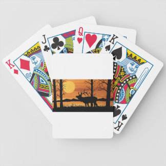 Caribou Bicycle Playing Cards