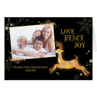 Caribou Bliss Holiday Greeting Photo Folded Cards