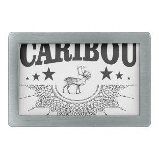 caribou cup logo rectangular belt buckle