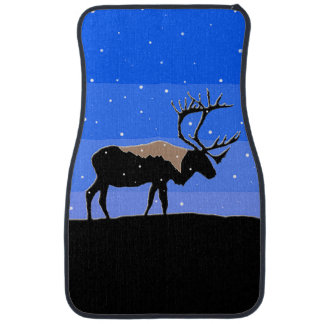 Caribou in Winter Car Mat