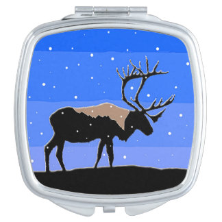 Caribou in Winter Compact Mirror