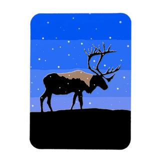 Caribou in Winter  - Original Wildlife Art Magnet