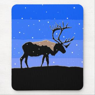 Caribou in Winter  - Original Wildlife Art Mouse Pad
