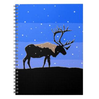 Caribou in Winter  - Original Wildlife Art Notebook
