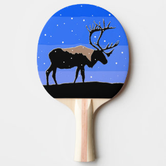 Caribou in Winter Ping Pong Paddle