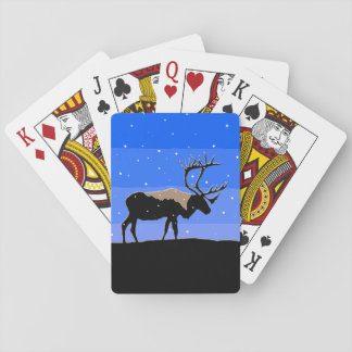 Caribou in Winter Playing Cards