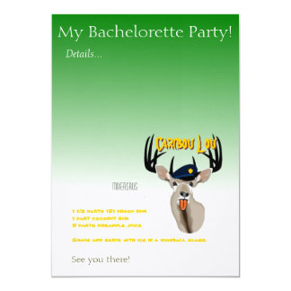 """Caribou Lou 5"""" X 7"""" Invitation Card"""
